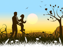 El romance del amor muestra verano y calor de la pasión Foto de archivo libre de regalías