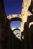 EL romano Djem do Coliseum-, Tunísia foto de stock royalty free