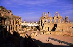 EL romano Djem do Coliseum-, Tunísia imagem de stock royalty free
