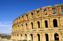 EL romano Djem do Coliseum-, Tunísia foto de stock