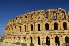 EL romano Djem do Coliseum-, Tunísia Fotografia de Stock