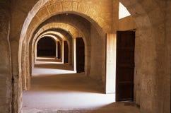 EL romano Djem do Coliseum-, Tunísia imagens de stock