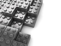 El rompecabezas bloquea el fondo ilustración del vector