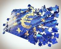 El rompecabezas de la unión europea ilustración del vector