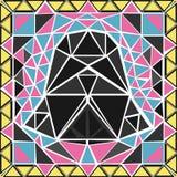 El rompecabezas de triángulos stock de ilustración