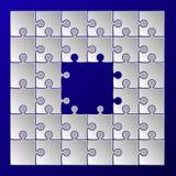 El rompecabezas del Libro Blanco junta las piezas de la frontera del marco Imagenes de archivo