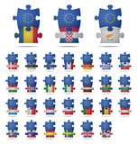 El rompecabezas junta las piezas de Europa Imágenes de archivo libres de regalías
