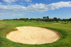 El Rompido Golf course, Andalusia, Spain stock photography