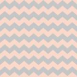 El rosa en colores pastel y el gris del galón del zigzag tejan el modelo del vector Imagen de archivo