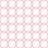 El rosa simple alineó el modelo inconsútil del hexágono del vector cuadrado de la cosechadora Foto de archivo libre de regalías