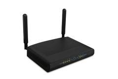 El router inalámbrico de Wi-Fi aisló el fondo blanco, uso que acortaba el PA Fotografía de archivo libre de regalías