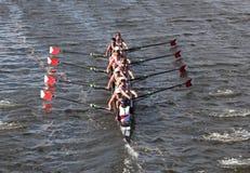 El Rowing de Marín ganó la pista de Charles Regatt Imagenes de archivo