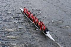 El rowing francés compite con en el jefe del campeonato Eights de Charles Regatta Men Foto de archivo