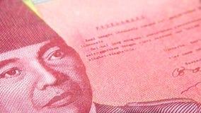 El rupia es la moneda indonesia imágenes de archivo libres de regalías