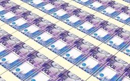 El rupia indonesio carga en cuenta el fondo de las pilas fotos de archivo