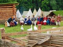 El ` Rusia antigua del festival Épocas y ` de las épocas imágenes de archivo libres de regalías