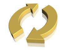 el símbolo 3D - recicle Fotografía de archivo libre de regalías