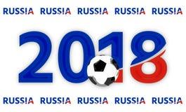 El símbolo azul rojo 3d de Rusia 2018 rinde Foto de archivo libre de regalías
