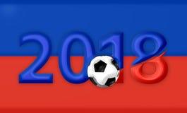 El símbolo azul rojo 3d de Rusia 2018 rinde Imagenes de archivo