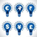 Símbolo de dinero en circulación Imagen de archivo libre de regalías