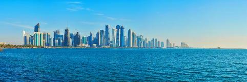 El símbolo de Doha, Qatar imagenes de archivo