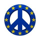 El símbolo de Greenpeace pintó la bandera de Europa libre illustration