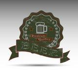 El símbolo de la cerveza oscura Imágenes de archivo libres de regalías