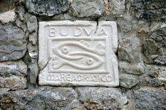 El símbolo de la ciudad Budva Imagen de archivo