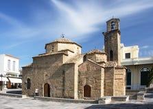 El símbolo de la ciudad de Kalamata - la iglesia de los apóstoles del St Imagen de archivo libre de regalías