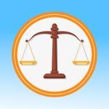El símbolo de la corte, escala el ejemplo plano del vector stock de ilustración