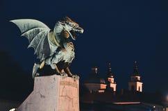 El símbolo de la noche de Ljubljana Foto de archivo libre de regalías