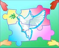 El símbolo de la paz ilustración del vector