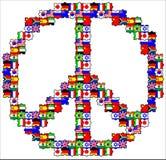 El símbolo de la paz en rompecabezas ilustración del vector