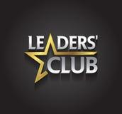 El símbolo de la plata y del oro del gráfico de vector para los líderes de la compañía con la estrella forma Fotografía de archivo libre de regalías