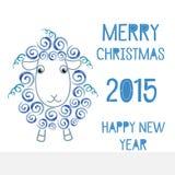 El símbolo de las nuevas 2015 ovejas libre illustration