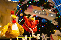 El símbolo de los nuevos 2017 años de pollo Fotografía de archivo libre de regalías