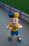 El símbolo del EURO Slavko 2012 presenta en estadio Imagen de archivo libre de regalías