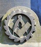 El símbolo del monumento de mármol fotografía de archivo