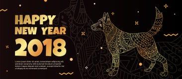 El símbolo del ` s del perro es 2018 stock de ilustración