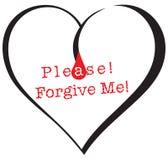 El símbolo me perdona por favor Imágenes de archivo libres de regalías
