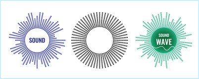 El símbolo musical del equalizador circular Icono sano del vector ilustración del vector