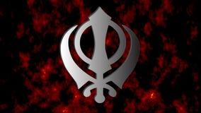 """El símbolo principal muestra Khanda, vídeo del †del Sikhism """""""