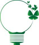 El símbolo verde de la idea hizo el vector y el ejemplo de la mariposa stock de ilustración