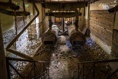 El sótano en el Beelitz cura clínicas Imágenes de archivo libres de regalías