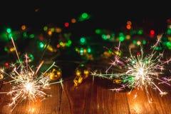 El ` s del Año Nuevo enciende y juega 3 Foto de archivo