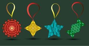 El ` s del Año Nuevo juega vector en un fondo verde fotos de archivo libres de regalías