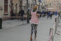 El ` s Eve del Año Nuevo corre en Kraków Fotografía de archivo libre de regalías