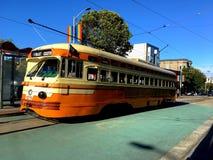 El ` s hermoso, tranvía colorido de San Francisco de la PCC construido para Cleveland, 4 fotografía de archivo libre de regalías