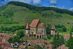 El sajón fortificó la iglesia de Biertan, Rumania imagen de archivo