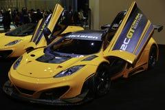 EDICIÓN de McLaren 12C CAN-AM mostrada en el salón del automóvil de Nueva York Foto de archivo